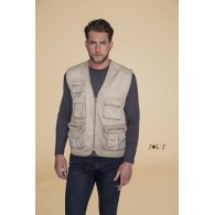 SOL'S - GILET REPORTER MULTIPOCHES - WILD