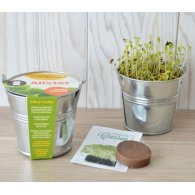KIT DE SEMIS - MINI POT ZINC 8 CM PERSONNALISABLE