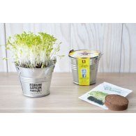 KIT DE SEMIS - MINI POT ZINC 6 CM PUBLICITAIRE