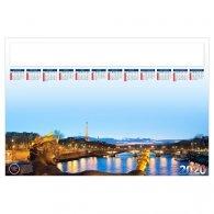SOUS-MAIN PARIS 500 X 350 MM 25 FEUILLETS AVEC GRILLE PERSONNALISABLE