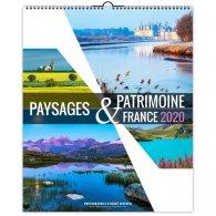 ILLUSTRE PAYSAGES ET PATRIMOINE - 13 FEUILLETS - 330X400MM - SANS MARQUAGE PERSONNALISABLE