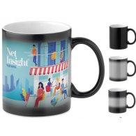 Magic - 330 ml - Mug noir sublimation personnalisable - LE cadeau CE