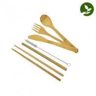 Nagano - Set couverts complet en bambou publicitaire - LE cadeau CE