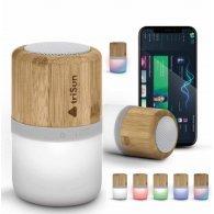 Valence - 3W - Enceinte bambou et LED personnalisable - LE cadeau CE