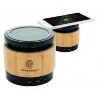 Birba - Enceinte 3W avec chargeur à induction en bambou personnalisable - LE cadeau CE