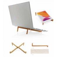 Sandrine - Support ordinateur portable en bambou publicitaire - LE cadeau CE