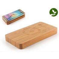 Félicien - 10000 mAh - Batterie externe bambou  à induction publicitaire - LE cadeau CE