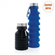 Tanche - 550 ml - Bouteille compacte et pliable personnalisable - LE cadeau CE
