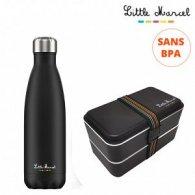 Little Marcel - Duo lunch box et gourde personnalisable - LE cadeau CE